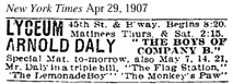 "Display ad for ""The Boys of Company B"" at the Lyceum in NYC"